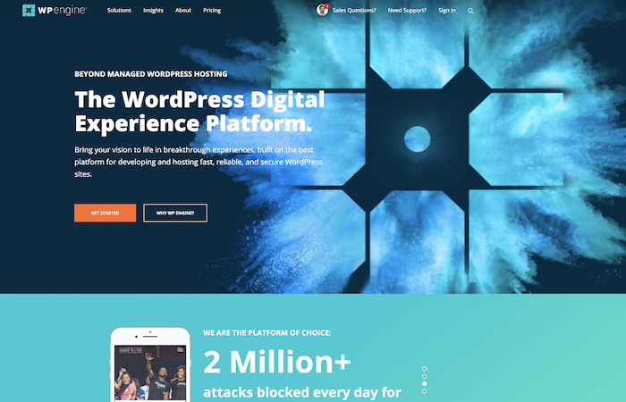 WordPress Hosting from WP engine
